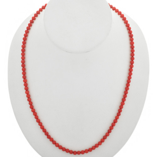 Native American Coral Bead Necklace 25082