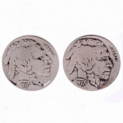 Indian Head Nickel Post earrings 23556