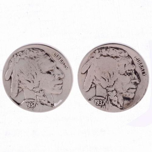 Indian Head Nickel Post earrings 23556