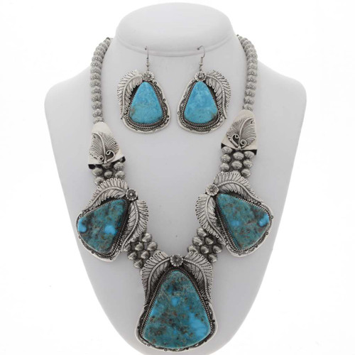 Navajo Turquoise Necklace Set 25700