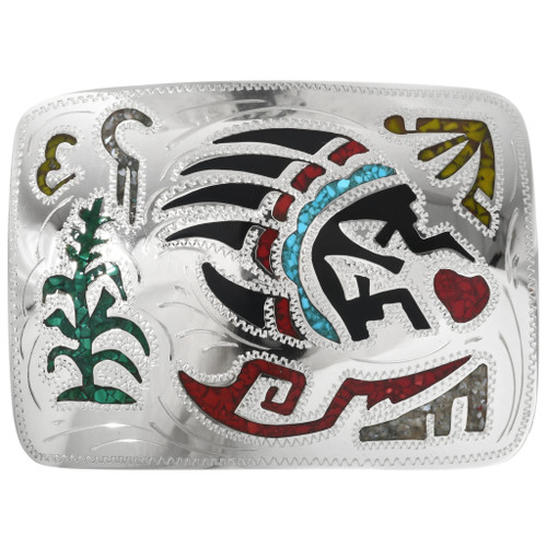 Turquoise Coral Belt Buckle 27356