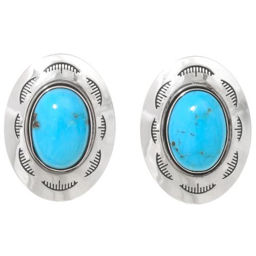 Turquoise Concho Earrings 23553