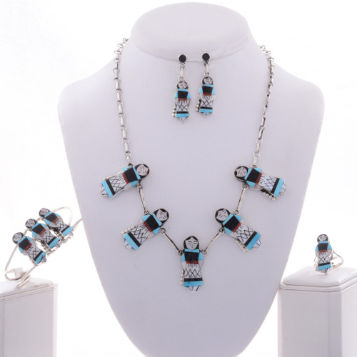 Zuni Maiden Inlaid Jewelry Set 28003