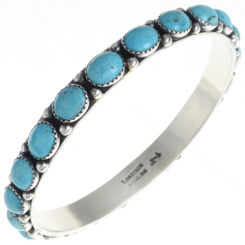 Turquoise Silver Bangle Bracelet 24461