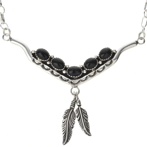 Native American Onyx Necklace  29255