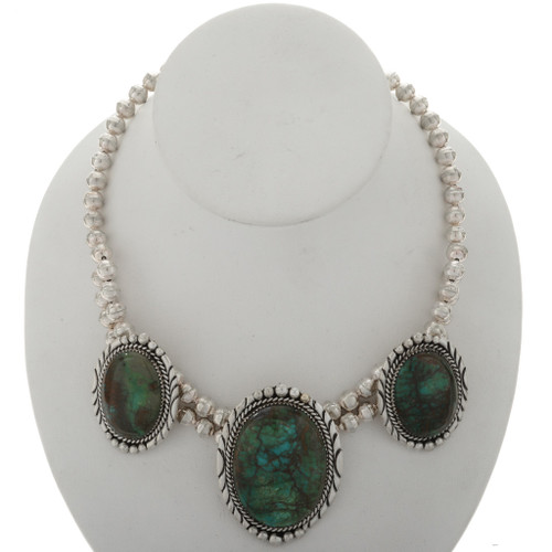 Emerald Valley Turquoise Navajo Necklace 16003