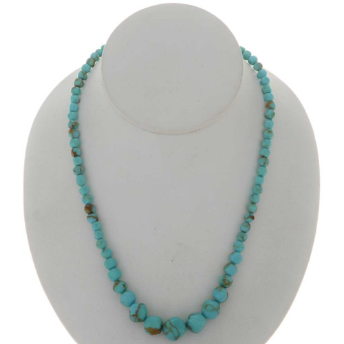 Navajo Turquoise Nugget Necklace 26539