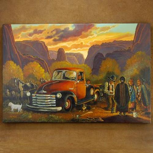 J.C. Black Chevy Pickup Painting