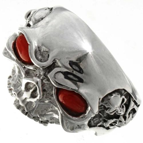 Silver Skull Mens Ring 26740