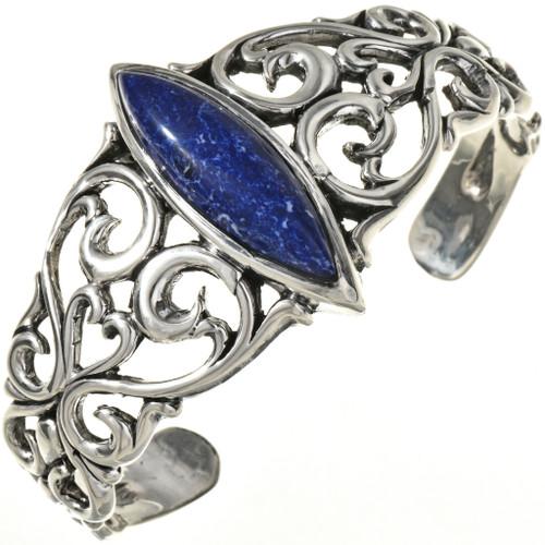 Lapis Silver Ladies Cuff Bracelet 29216