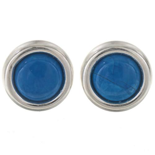 Blue Turquoise Howlite Stud Earrings 28007