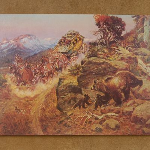 """Open edition """"Bruin Not Bunny Turned the Leaders"""" Print by CM Russell"""