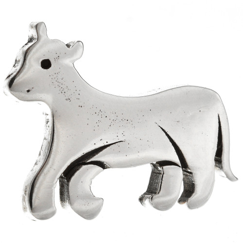 Native American Sterling Bull Hat Pin 15387