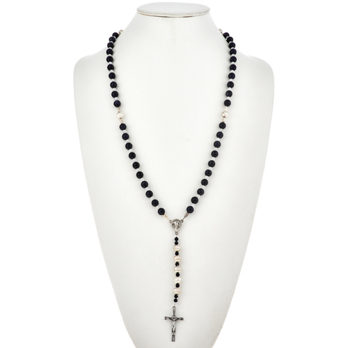 American Indian Gemstone Rosary Necklace 21558
