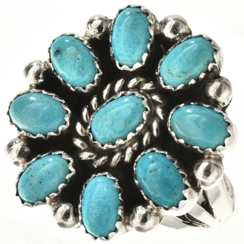Turquoise Petit Point Ring 28773