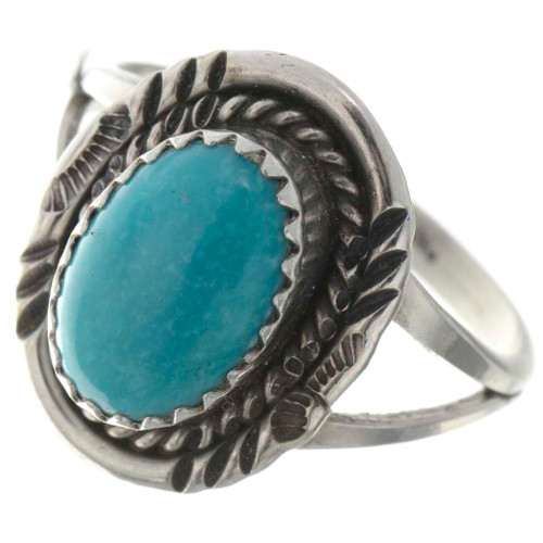 Kingman Turquoise Ladies Ring 26495