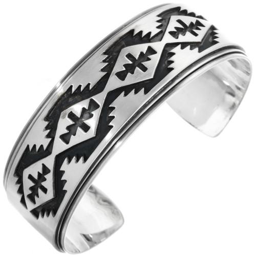 Overlaid Silver Navajo Cuff 27721
