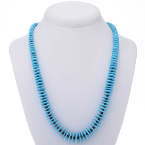 Traditional Turquoise Heishi Necklace 25378