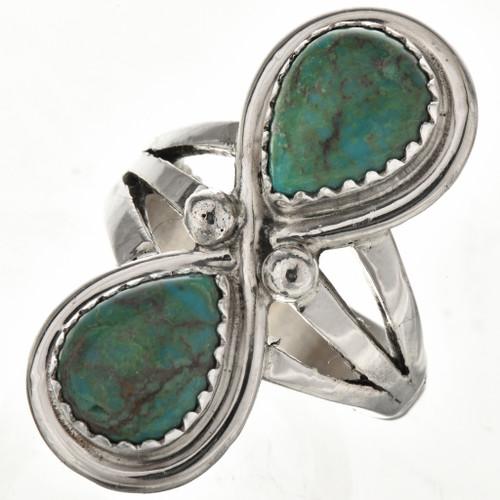Turquoise Teardrops Ladies Ring 26334