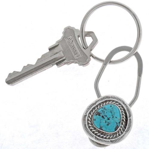 Navajo Turquoise Key Ring 25346