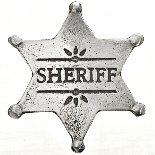 Sheriff Silver Star Badge 29008