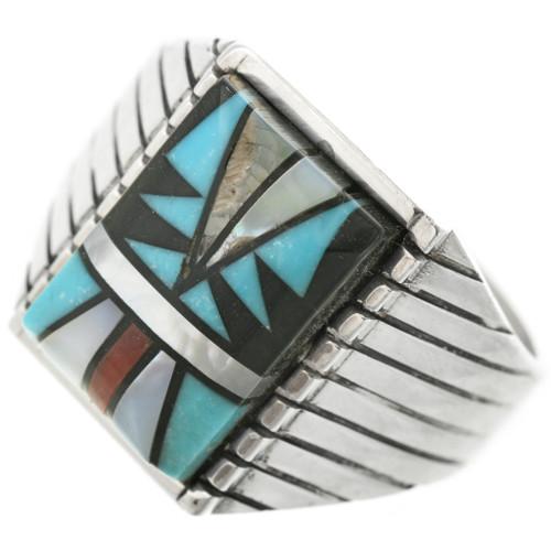Native American Mens Silver Ring 29721