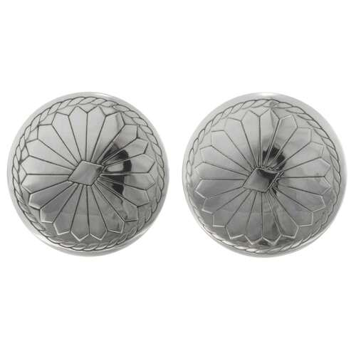 Silver Concho Cuff Links 20857