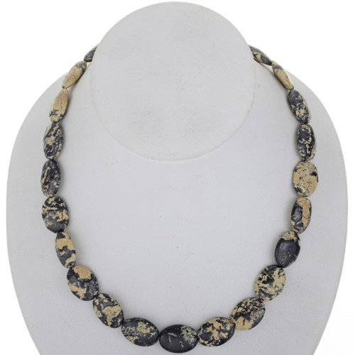 Yellow Turquoise silver Necklace 25467