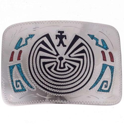 Hopi Pattern Maze Belt Buckle 24552