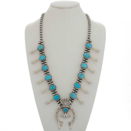 Turquoise Squash Blossom Necklace 26443