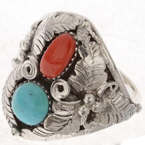 Turquoise Coral Ring 24986