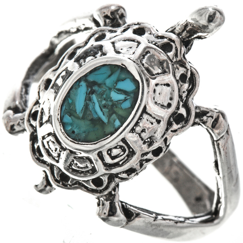 Navajo Turquoise Turtle Ring 29283