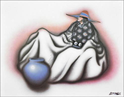 "Robert Redbird Native American Art Print ""Disciple of Peyote"""