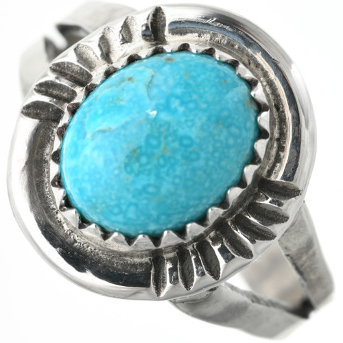 Navajo Turquoise Silver Ring 27609