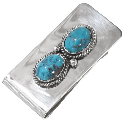 Turquoise Silver Money Clip 24549