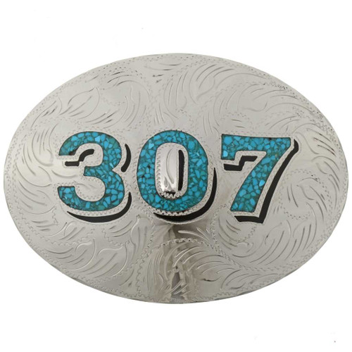 Custom Turquoise Belt Buckle 27544