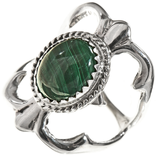 Navajo Malachite Silver Ring 29016