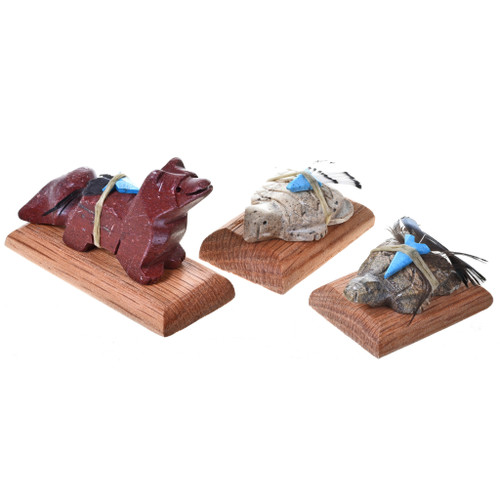 Small Stone Native American Animal Statuette Table Fetishes