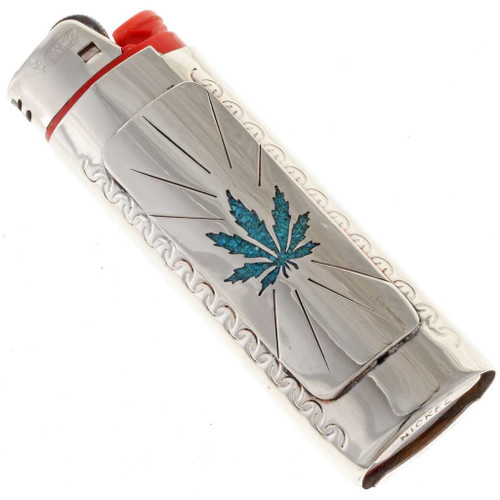Medical Marijuana Turquoise Lighter Case 24856