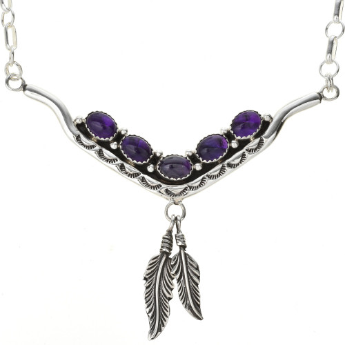 Amethyst Sterling Necklace 29252