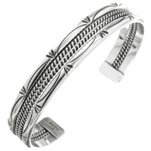 Navajo Silver Cuff Bracelet 25032