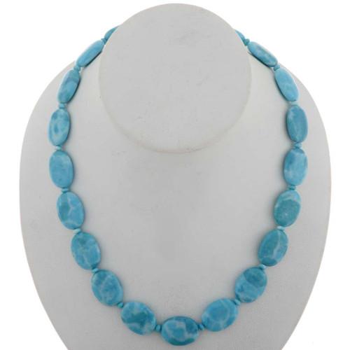Blue Larimar Beaded Necklace 27400