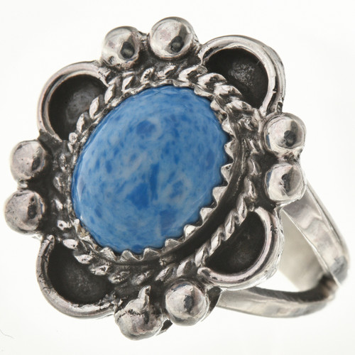 Denim Lapis Silver Navajo Ring 28598