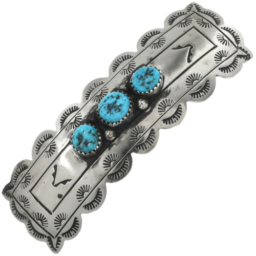 Turquoise Silver Hair Barrette 23331