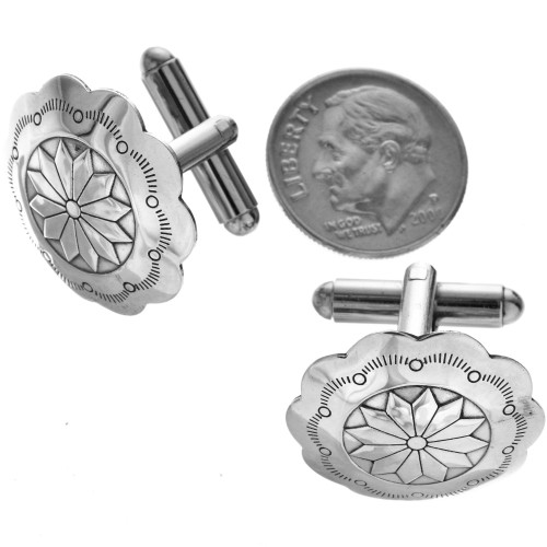 Native American Sterling Cuff Links 29603