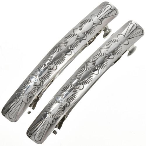 Hammered Silver Southwest Barrettes 22791