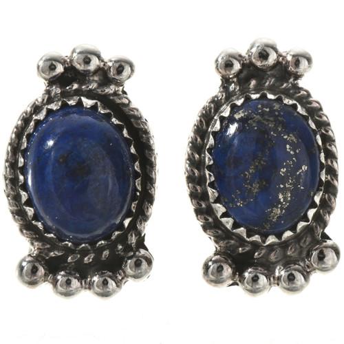 Lapis Sterling Stud Earrings 28863