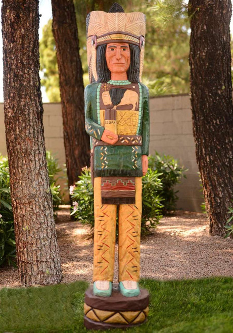 Green Coat Cigar Store Indian 26719