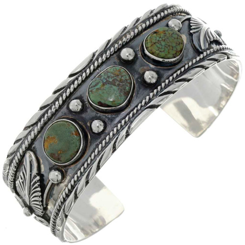 Green Turquoise Cuff Bracelet 26455
