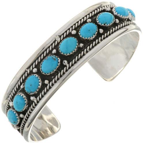 Turquoise Silver Ladies Bracelet 27552